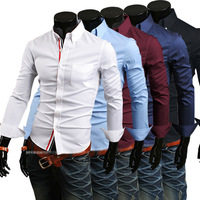 Slim denim clothing male fashion shirt direct selling in the summer clothing
