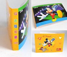 novo 2014 Mickey Mouse Capa simples mini- álbum de fotos 5 de 6 polegadas da foto do bebê Foto quadro álbum foto frete grátis(China (Mainland))