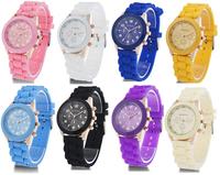 Geneva Casual Watch Women Dress students Watch 2014 Quartz Military men Silicone watches Unisex Wristwatch Sports watch
