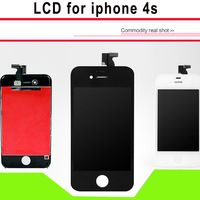 LCD screen For iPhone 4s with Touch display digitizer + Frame assembly replacement with Anti-Dust Mesh + tools