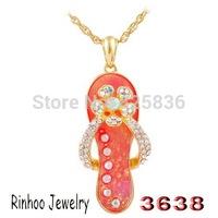Unique Women's Shoes Shape Alloy Pendant Necklaces Plated Rose Gold  Jewelry Factory Wholesale C31211