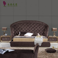 Modern design home furniture bedroom furniture wardrobe solid wood frame with MDF cover with veneer and fabric  dressing table