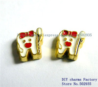 10pcs Zinc Alloy Mix Color Daughter heart Floating Charms Fit Floating charms lockets FC151