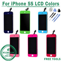 1000% Test New For iphone 5S lcd Touch Screen Digitizer Assembly For Iphone 5S LCD Colors Free Shipping by DHL