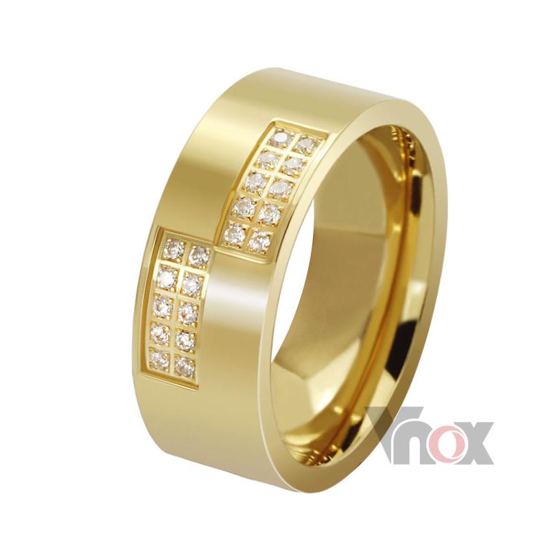 mode 18k vergoldete ringe für frauen und männer schmuck