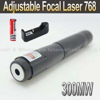 Laser 768 300mW Blue Laser Pointer Adjustable Focal Laser Pen+ 3000MAH 18650 Battery+charger