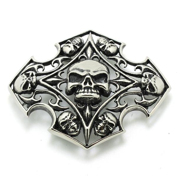 Amaizng!! Fleur De Lis Skull Belt Buckle For Cool Man 316L Stainless Steel Cool Punk Style Skull Head Belt Buckle(China (Mainland))