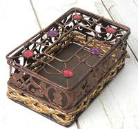 Hot sale vintage iron Storage Boxes,European style hollow our metal retro gift box free shipping