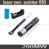 Laser 850 lamp 200mw  laser pen, 650nm green pen 5000 meters flashlight Red laser+ 1200mah batery+ charger