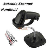 Black MJ2809AT USB Laser Scanner Handscanner Handheld Barcode scanner For POS +Stand Preofessional