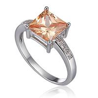 Free Shipping Classic Design Super Shiny Zircon Platinum Plated Ladies Wedding Rings Wholesale