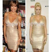 2014 fashion summer sexy deep v-neck tank hot bandage elastic nightclub bodycon mini dress free shipping best selling