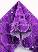 African velvet lace fabric 5yards 5991 PURPLE