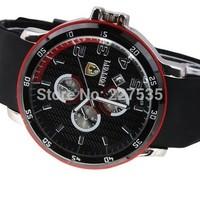 Male sports watch 2014 new leisure fashion sports 3 needle decorative calendar, quartz watch free shipping