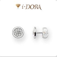 2014 Hot sell diy ts fashion silver plated stud earrings jewelry diamante mini garland TB8122 silver