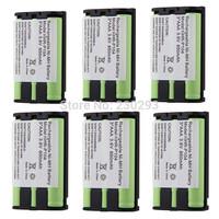 6PCS/LOT Rechargeable NI-MH 3.6V 850mAh Home Phone Battery Cordless Phone Battery for Panasonic HHR-P104 HHR-P104A/1B Type 29