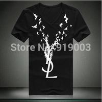 Wholesale 2014 Brand Men's T-Shirts, V-Neck T-shirts, Fashion O-Neck T-Shirts,Men Tees,Free China Post Shipping.TB-47