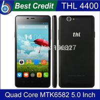 In stock! Original THL 4400 1GB RAM 4GB ROM MTK6582 Quad Core Android Smartphone 5.0 Inch HD 8.0MP Camera 4400mAh/Eva
