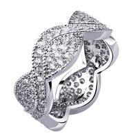2014 women accessories Full zircon finger ring austrian crystal 18k gold plated womens fashion jewellery finger rings alliances