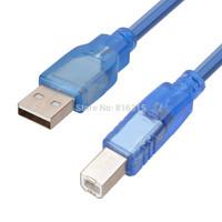 10M USB2.0 Transparent Printer Extension Cable Blue