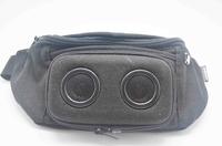 wholesale New arrival Running easy take voice box hip bag outdoor loudspeaker waistbag earphone Speaker waist pack Free Shipping