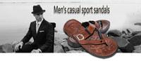 New 2014 Summer Men Casual Flat Sandals,Bakham Leisure Soft Flip Flops,rubber Massage Beach Slipper Shoes For Men Size 40-44