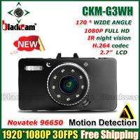 "NEW Novatek 96650 G3WH Car Camera Full HD 1080P 30FPS+G-Sensor + 2.7"" LCD Car DVR Recorder+HDMI+H.264 Video Recorder Dash Cam"