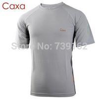 Free shipping new 2014 fashion brand summer autumn CAXA men outdoor sports T-shirt, short-sleeved running climbing fast drying