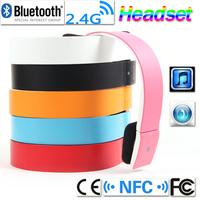 NEW Bluetooth 2.4G NFC Wireless V3.0 EDR 2CH Stero Headset Audio Headphone Earphone with MiC for iPhone iPad Smartphone