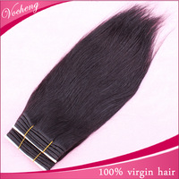 Unprocessed Virgin Brazilian Hair 3pcs/ set 8''-26'' Natural Black Eurasian Virgin Hair Can be Dye (Vb3-023) Free Shipping