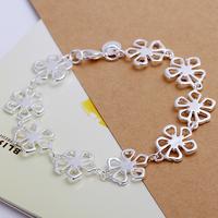 H169 Hot Sale 925 Sterling Silver Fashion Jewelery Flower Bracelet Chain,Top Jewelry Bracelet Free Shipping
