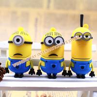Newest pendrive cartoon toy Minions flash drive Dave,Kevin,Stuart,4GB/8GB/16GB/32GB/64GB USB 2.0 Memory Stick,usb flash disk