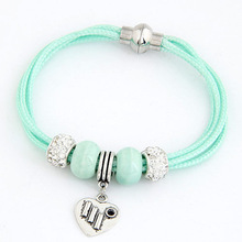 2015 Trendy fashion Simple Two layers Candy color Plastic Love bracelets bangles For Women accessories Jewelry