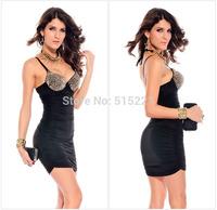 Vestido De Festa 2014 Summer New Natural Hot Sale Promotion Women Sexy Chic Sleeveless Mini Girls Dress With Shoulder-straps