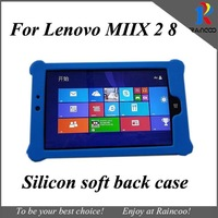Brand New for Lenovo miix 2 8 high quality Sweety silicon back Case,for lenovo miix 2 soft protective cover, free shiping