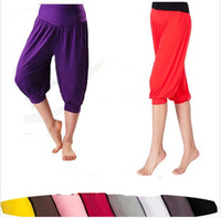 New women yoga pants bloomers wide leg dance trousers yoga clothing fitness home wear workout  soldi color plus size 2014