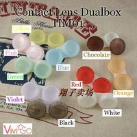 Dual Box Double Case  Contact Lens Case Soaking Case  Freshlook  Free shipping