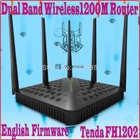 EnglishFirmware Tenda FH1202 Dual Band 2.4G&5G 1200Mbps 11AC Wireless WiFi Router 5 omni-directional antennas,WDS Bridge