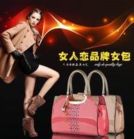 Patent leather handbags fashion women leather handbags Korean hollow handbag shoulder diagonal Ms. bags