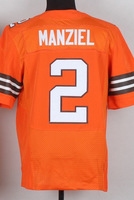 #2 Johnny Manziel Men's White/Orange 2014 Elite American Football Jerseys Cheap Sale,wholesale