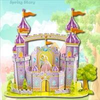 Fashion Tower Bridge design boy girls 3D puzzle children kid Mosaic toys DIY toy Girls room puzzles Cartoon NO.713