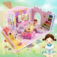 Fashion Tower Bridge design boy girls 3D puzzle children kid Mosaic toys DIY toy Girls room puzzles Cartoon NO.690D