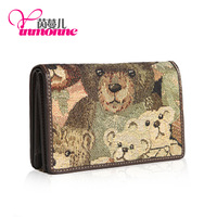 The 2014 global sell like hot cakes with jacquard cloth with mouton high-grade ladies wallet. Hand caught 003 # free shipping
