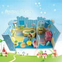 Fashion Tower Bridge design boy girls 3D puzzle children kid Mosaic toys DIY toy Girls room puzzles Cartoon NO.690C