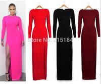 Brand Women summer MAXI leopard dress Vestido sexy club dress 2014 New arrival 2014 evening elegant victoria beckham dress