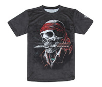 Fashion casual T-shirt fashionable outdoor sports quick-drying short-sleeved round neck T-shirt Personalized 3D