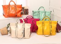 Oil Wax Cowhide Handbag 2014 New Hot Genuine Leather Shoulder Bag Fashion Vintage Women Messenger Bag 11 Colors Gift Totes