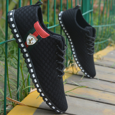 Through the network of old Beijing men's canvas shoes, air spring and autumn 2015 new fashion trend(China (Mainland))