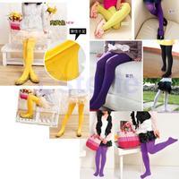 Kids Baby Girls Velvet Candy Color Leggings Pantyhose Underpants-PY