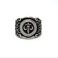 Best Gift New 925 sterling silver rings Handmade Retro Cross Man Ring Men Jewelry Free Shipping LJR022